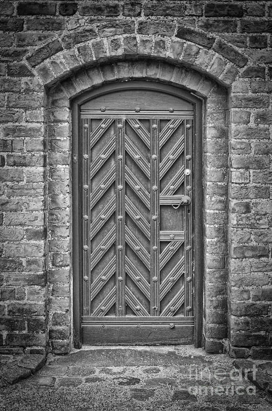Monochromatic Poster featuring the photograph Church Door 02 by Antony McAulay