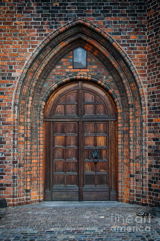 Entrance Poster featuring the photograph Church Door by Antony McAulay