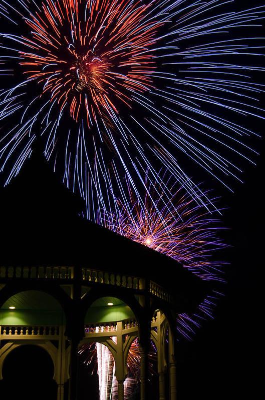 Marthas Vineyard Poster featuring the photograph Fireworks by Steve Myrick