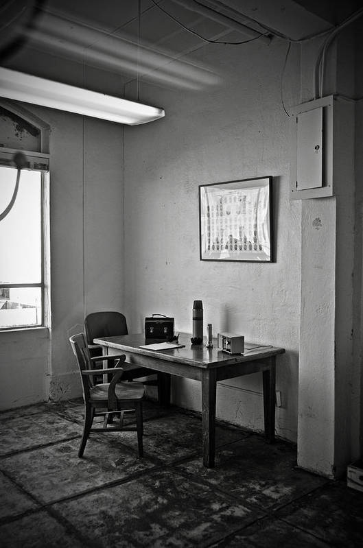 Communications Poster featuring the photograph Guard Dining Area In Alcatraz Prison by RicardMN Photography
