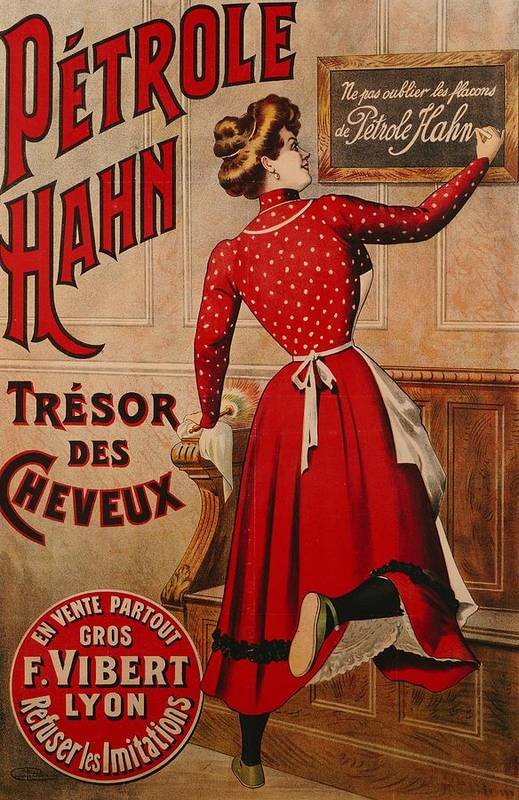 Petrole Hahn Poster featuring the drawing Petrole Hahn by Boulanger Lautrec