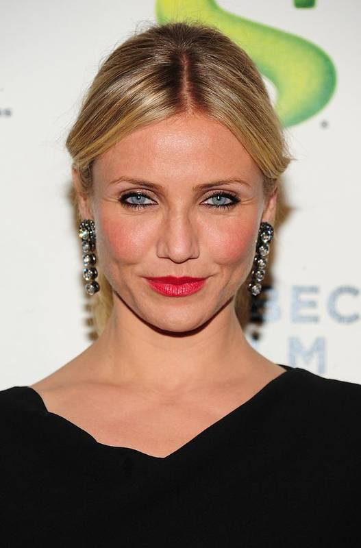 Cameron Diaz Poster featuring the photograph Cameron Diaz Wearing Lanvin Earrings by Everett