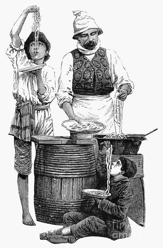 19th Century Poster featuring the photograph Spaghetti Vendor by Granger