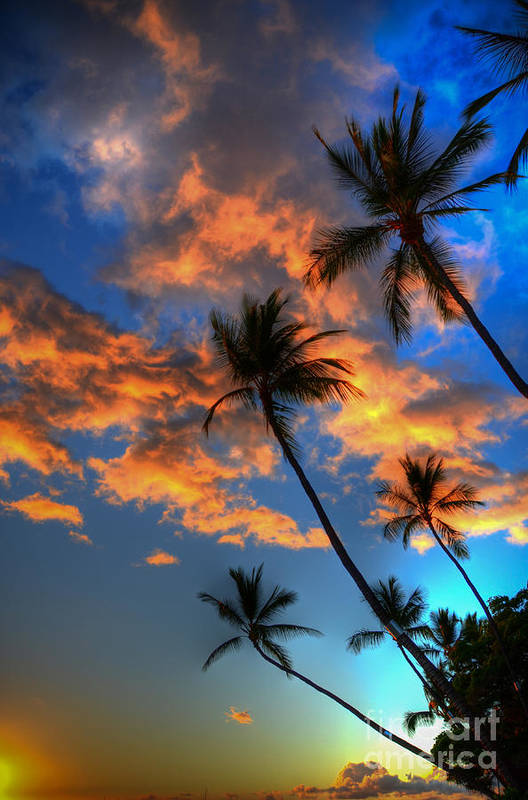 Maui Sunset Poster featuring the photograph Maui Sunset by Kelly Wade