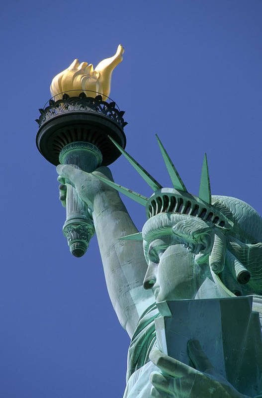 American Poster featuring the photograph Statue Of Liberty by Ron Watts