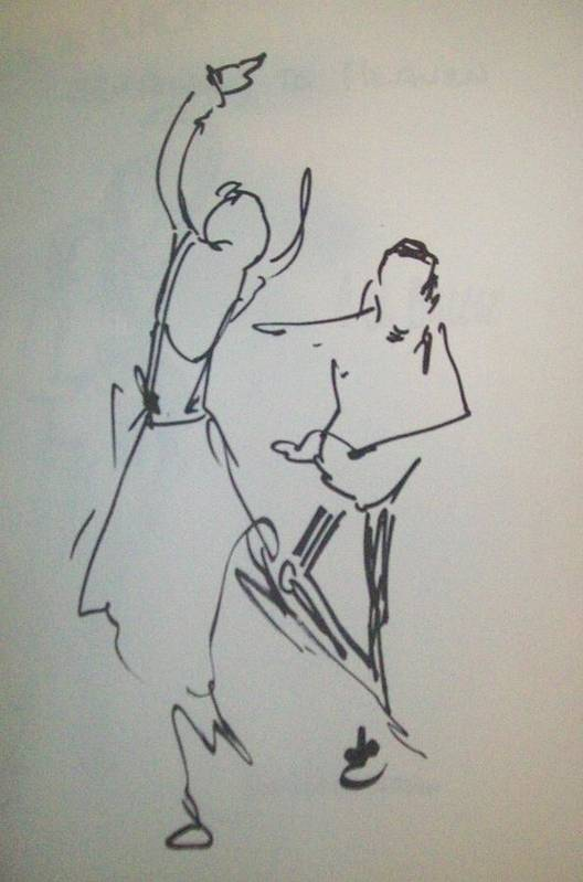 Sharpie Poster featuring the painting Ballet In The Park 2 by James Christiansen