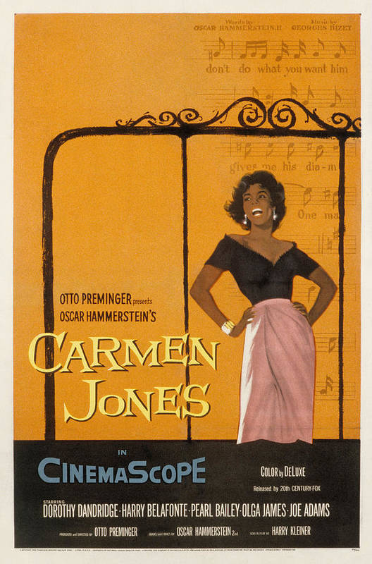 1950s Fashion Poster featuring the photograph Carmen Jones, Dorothy Dandridge, 1954 by Everett