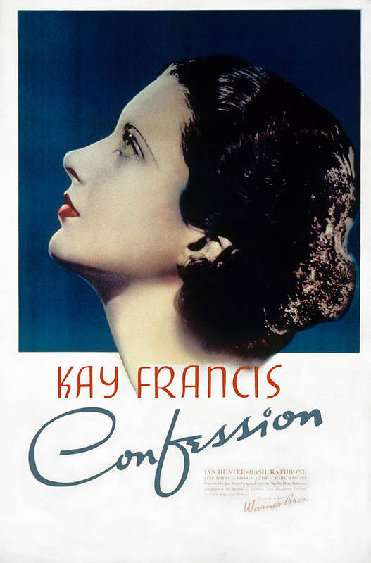 1930s Movies Poster featuring the photograph Confession, Kay Francis, 1937 by Everett