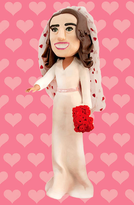 Kate Middleton Poster featuring the sculpture Duchess Of Cambridge by Louisa Houchen