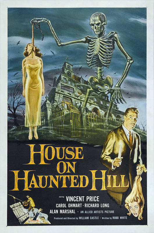1950s Poster Art Poster featuring the photograph House On Haunted Hill, Alternate Poster by Everett