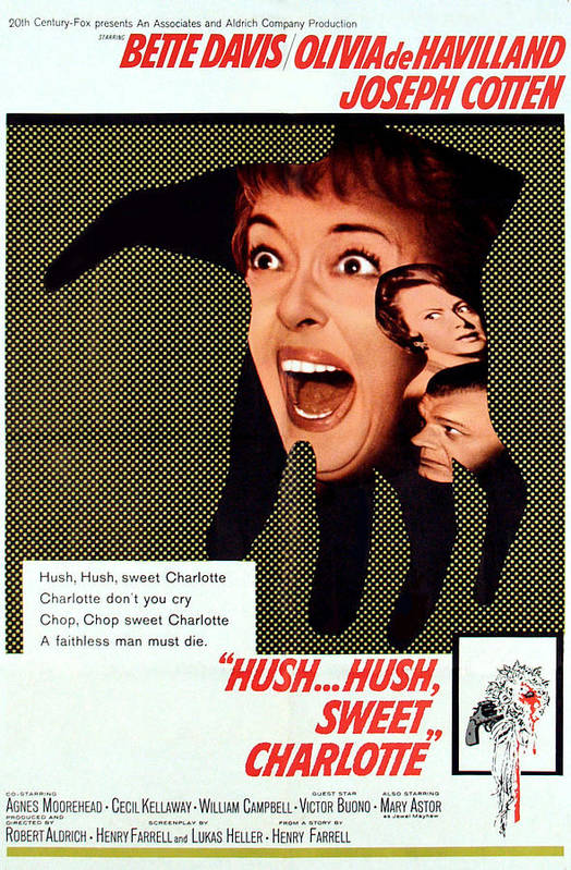 1964 Movies Poster featuring the photograph Hush...hush, Sweet Charlotte, Center by Everett