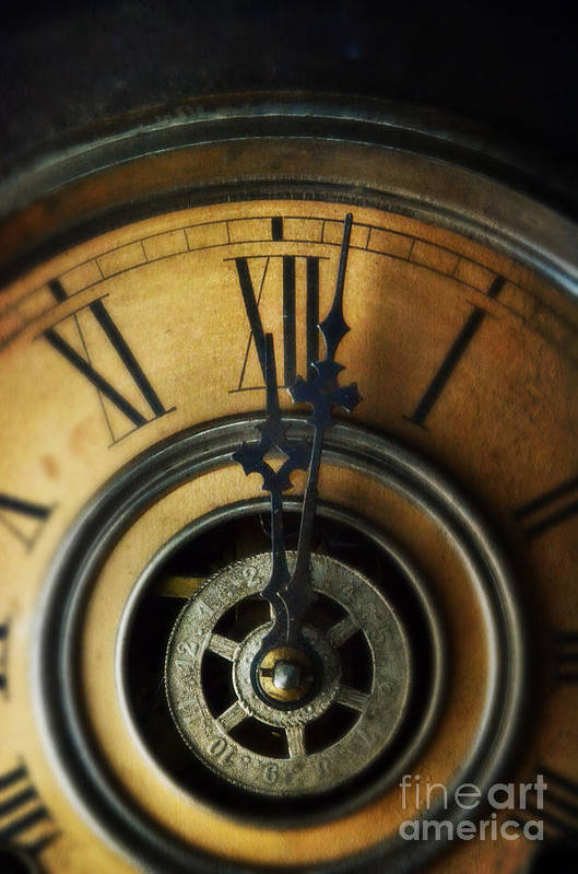 Clock Poster featuring the photograph Just Past Midnight by Jill Battaglia