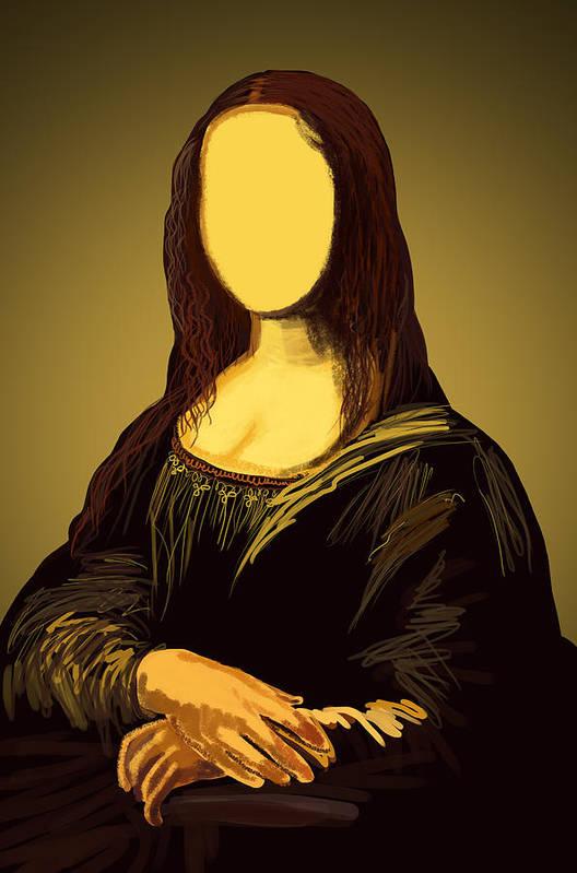 Album Poster featuring the painting Mona Lisa by Setsiri Silapasuwanchai