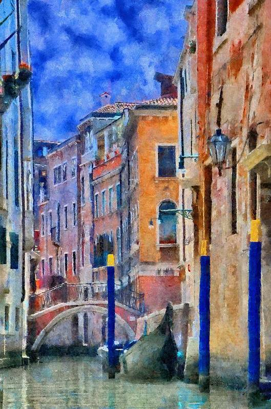 Adriatic Poster featuring the painting Morning Calm In Venice by Jeff Kolker