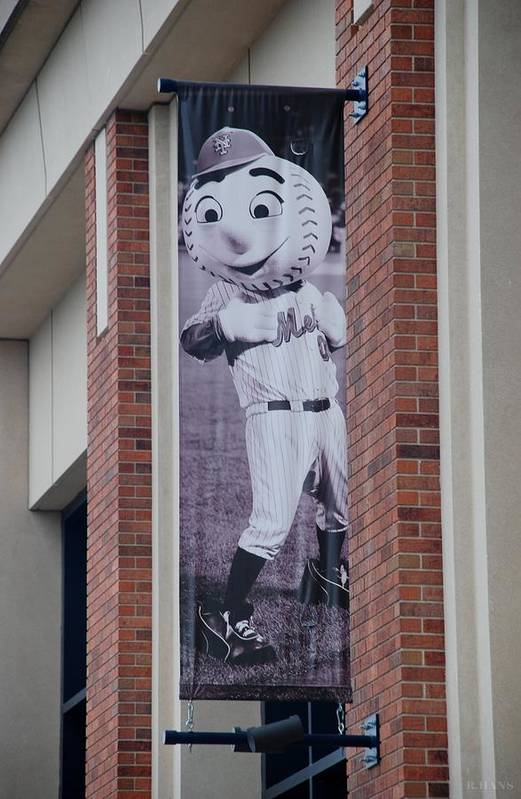 Shea Stadium Poster featuring the photograph Mr Met by Rob Hans
