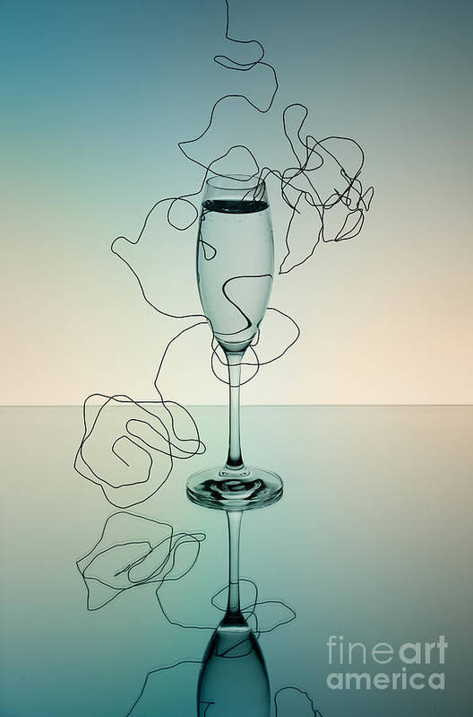 Glass Poster featuring the photograph Reflection 03 by Nailia Schwarz