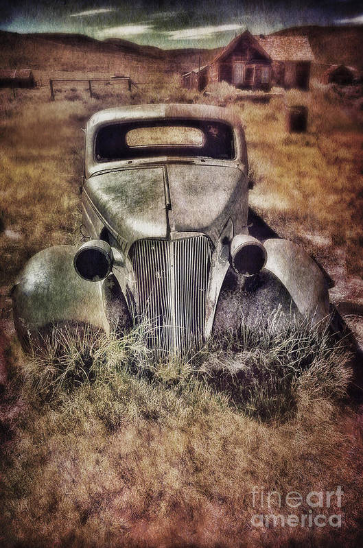 Car Poster featuring the photograph Rusty Car by Jill Battaglia
