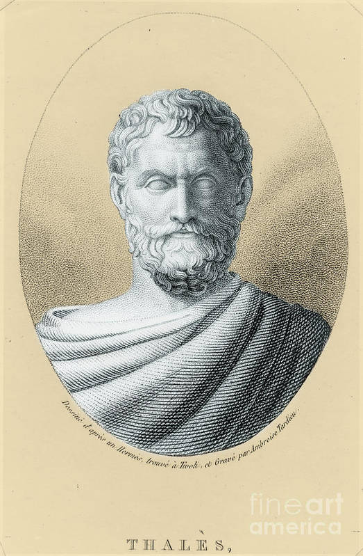 Science Poster featuring the photograph Thales, Ancient Greek Philosopher by Photo Researchers, Inc.