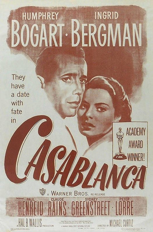 Casablanca Poster featuring the digital art Casablanca by Georgia Fowler