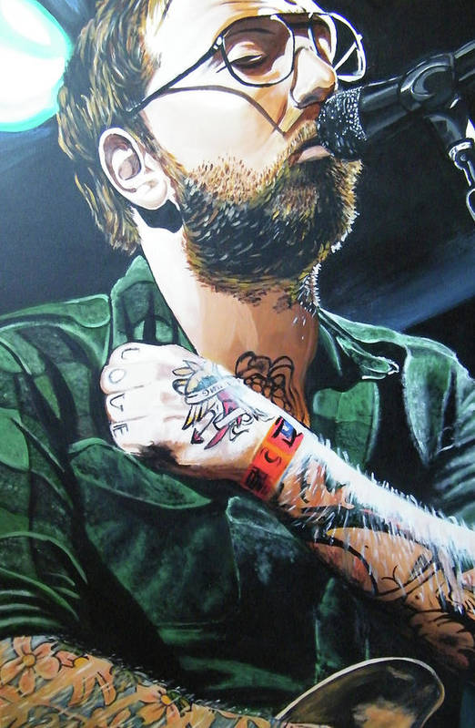 Dallas Green Poster featuring the painting Dallas Green by Aaron Joseph Gutierrez