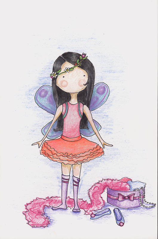 Fairy Poster featuring the drawing Dressing Up by Sarah LoCascio