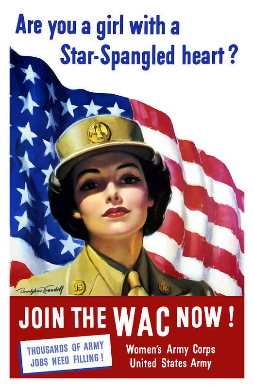 Wac Poster featuring the painting Join The Wac Now by War Is Hell Store