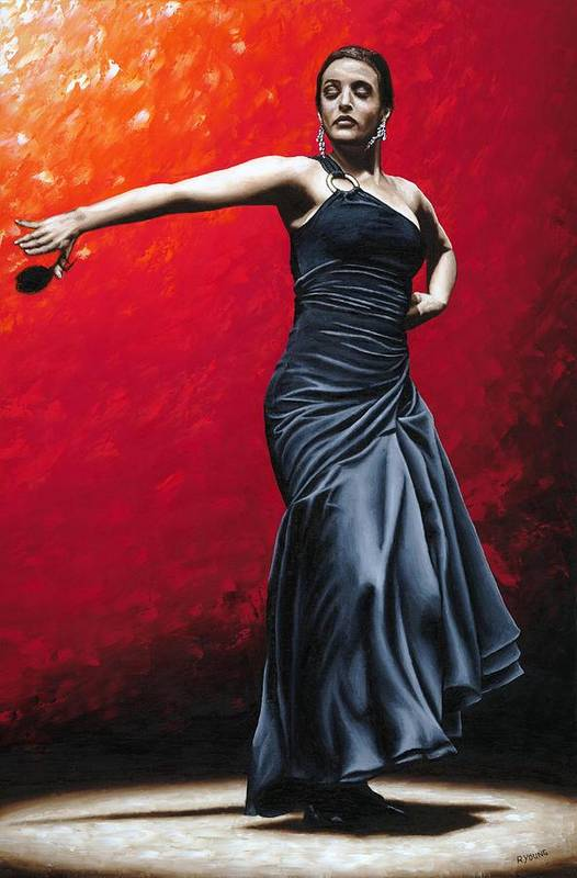 Noble Poster featuring the painting La Nobleza Del Flamenco by Richard Young