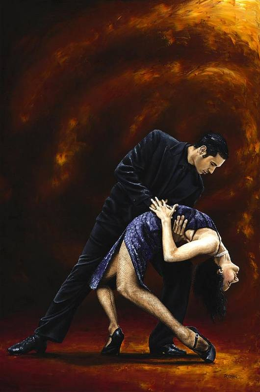 Tango Poster featuring the painting Lost In Tango by Richard Young