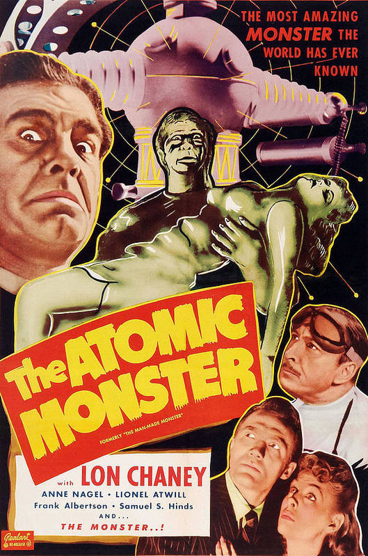 1940s Movies Poster featuring the photograph Man Made Monster, Aka The Atomic by Everett