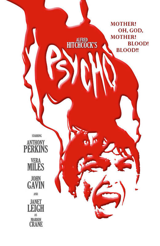 Psycho Poster featuring the digital art Psycho by Ron Regalado