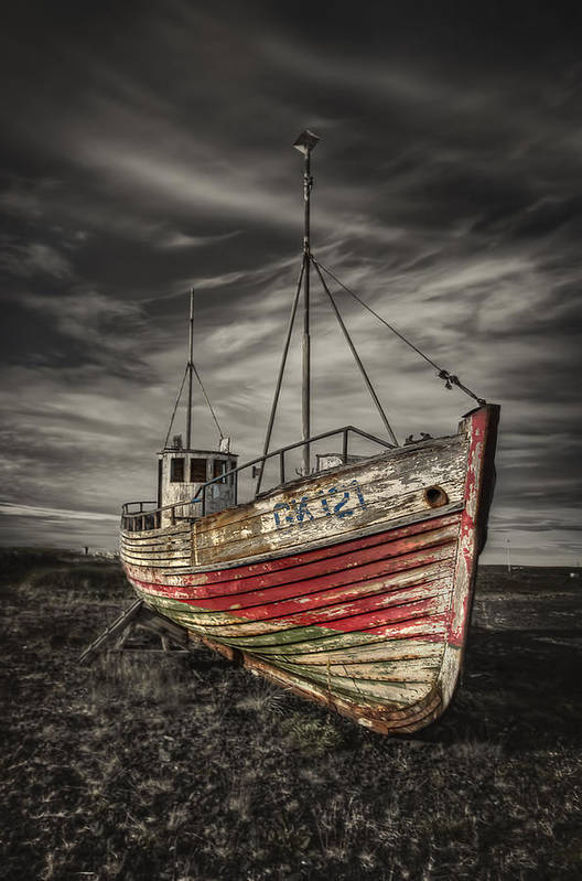 Boat Poster featuring the photograph The Ghost Ship by Evelina Kremsdorf