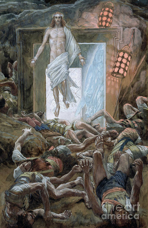 The Resurrection Poster featuring the painting The Resurrection by Tissot