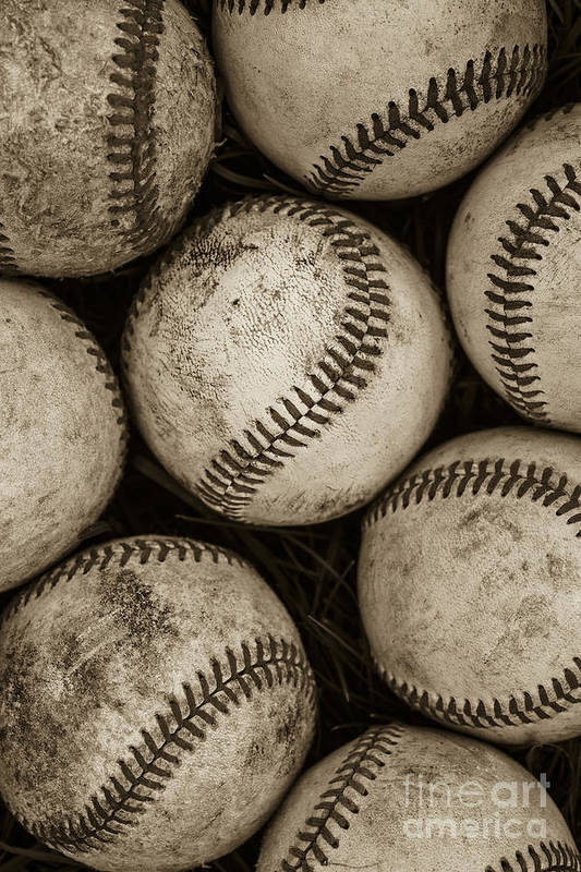 Baseball Poster featuring the photograph Baseballs by Diane Diederich