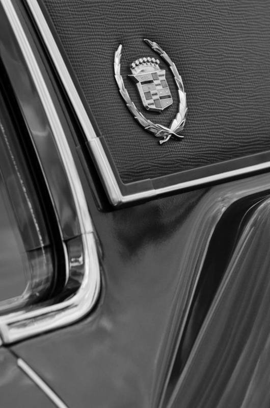 1969 Cadillac Eldorado Emblem Poster featuring the photograph 1969 Cadillac Eldorado Emblem by Jill Reger