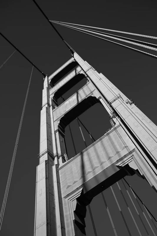 Golden Gate Bridge Poster featuring the photograph Golen Gate Tower by Darren Patterson