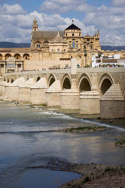 Cordoba Poster featuring the photograph Mezquita And Roman Bridge In Cordoba by Artur Bogacki