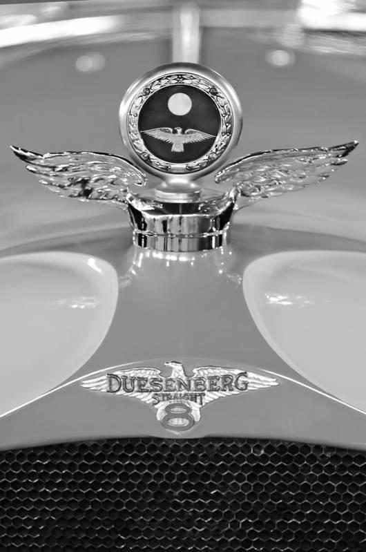 1926 Duesenberg Model A Poster featuring the photograph 1926 Duesenberg Model A Boyce Motometer 2 by Jill Reger