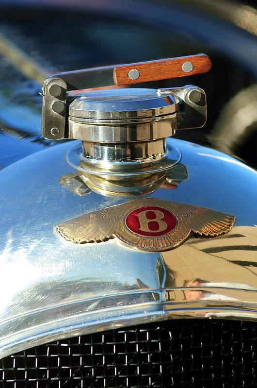 1927 Bentley Sports Poster featuring the photograph 1927 Bentley Hood Ornament by Jill Reger