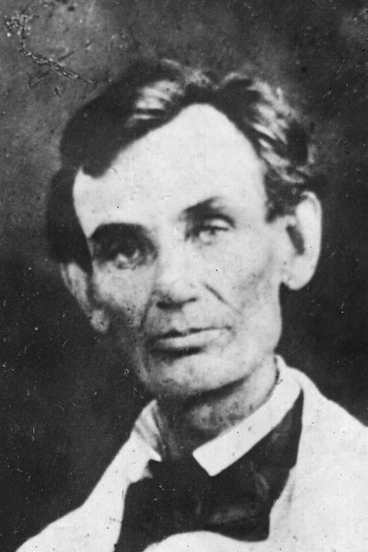 History; Authority; Illinois; Vertical; Portrait; Looking At Camera; Waist Up; One Mature Man Only; One Person; Abraham Lincoln; Beardstown; President Of The Usa; Government; Politics; 1858 Poster featuring the photograph Abraham Lincoln by Anonymous