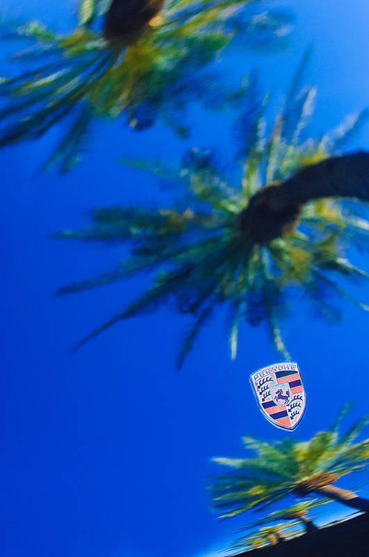 Porsche Emblem Poster featuring the photograph Porsche Emblem by Jill Reger