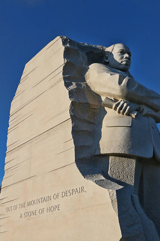 Martin Luther King Memorial Poster featuring the photograph Martin Luther King Jr. Memorial by Allen Beatty