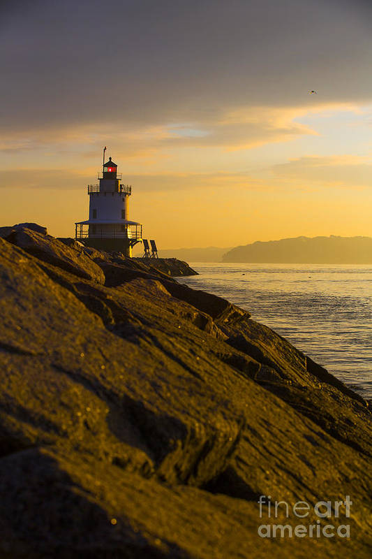 Lighthouse Poster featuring the photograph Sunrise At Spring Point Lighthouse by Diane Diederich
