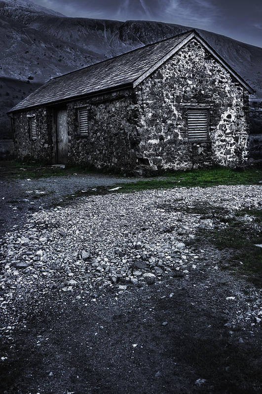 Abandoned Poster featuring the photograph Abandoned Farm by Svetlana Sewell