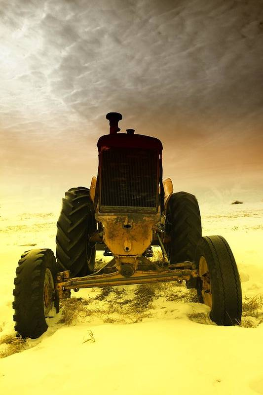 Tractors Poster featuring the photograph All The Feilds She Plowed by Jeff Swan