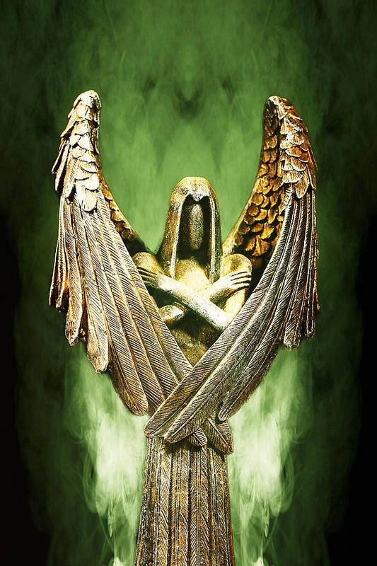 Angel Poster featuring the photograph Archangel Azrael by Bill Tiepelman