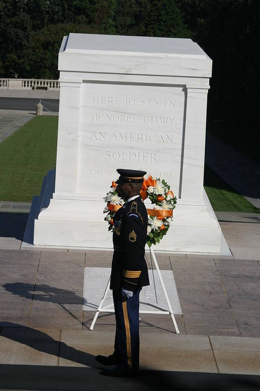 Arlington Poster featuring the photograph Arlington National Cemetery - Tomb Of The Unknown Soldier - 121212 by DC Photographer