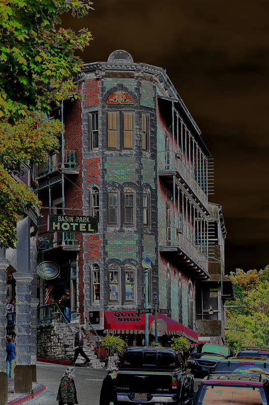Fantasy Poster featuring the photograph Basin Park Hotel by Jan Amiss Photography