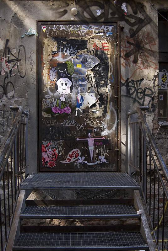 Graffiti Poster featuring the photograph Berlin Graffiti - 2 by RicardMN Photography