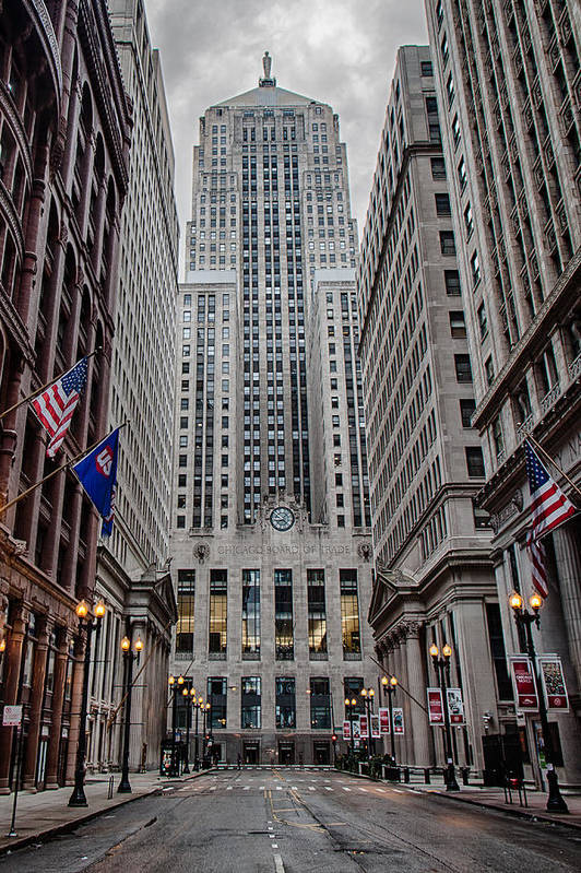 Chicago Poster featuring the photograph Board Of Trade by Mike Burgquist