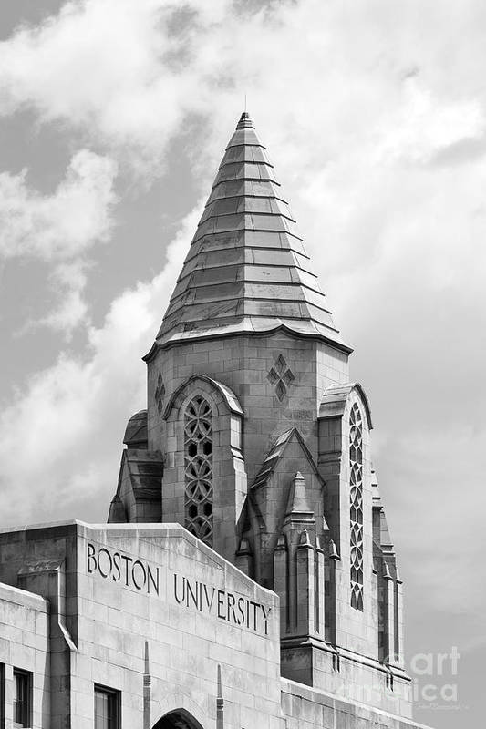 Boston Poster featuring the photograph Boston University Tower by University Icons